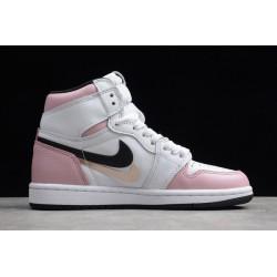 Cheap Air Jordan 1 High OG GS White Pink Black Womens 555088 688