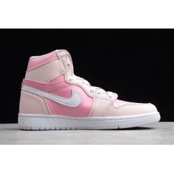 Newest Air Jordan 1 Mid GS Deadly Pink Grey Fog White Womens 555112 100