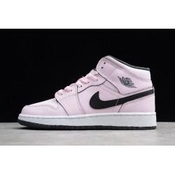 Best Air Jordan 1 Mid GS Pink Foam Womens 555112 601