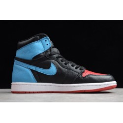 2021 Air Jordan 1 High OG Black Blue Womens CZ4385 016