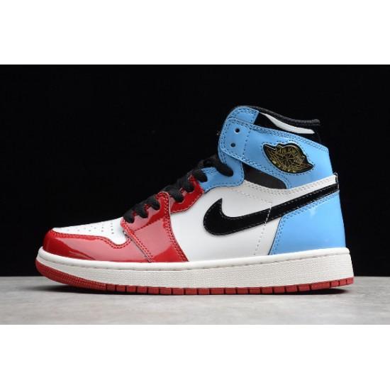 Best Air Jordan 1 High OG Fearless White University Blue Varsity Red Black CK5666 100