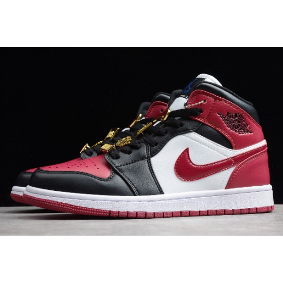 Latest Air Jordan 1 MID Fearless Black Red Youth CZ4385 016