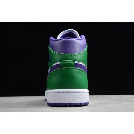"Fashion Air Jordan 1 Mid Hulk""Aloe Verde Court Purple For Sale Youth 554724 300"