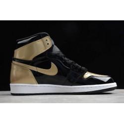 2021 Air Jordan 1 Retro High OG Gold Toe Mens 861428 007