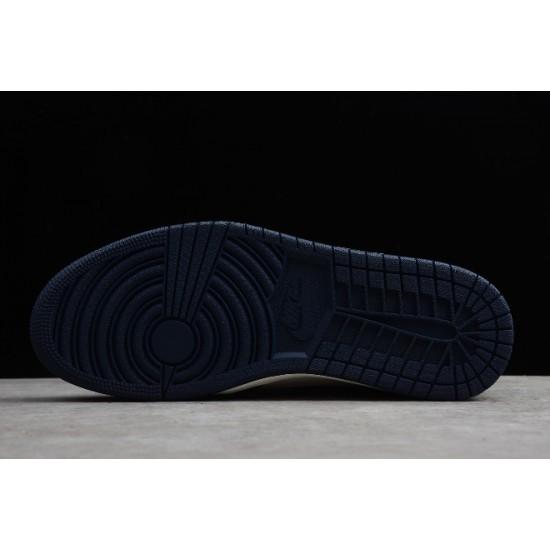 New Air Jordan 1 Retro High OG Obsidian Sail University Blue Mens 555088 140