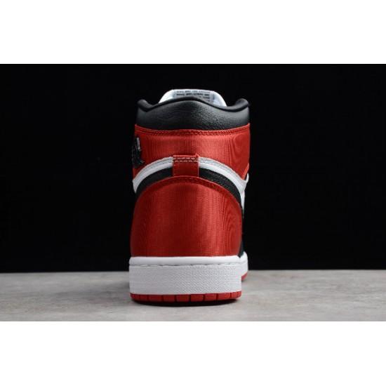 Fashion Air Jordan 1 Retro High Satin Black Toe Womens CD0461 016
