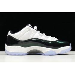 Best Air Jordan 11 Retro Low Emerald White Men 528895 145