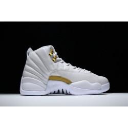 Newest Air Jordan 12 OVO White Gold Men 873864 102