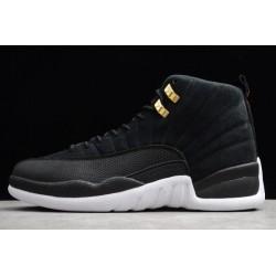 Fashion Air Jordan 12 Reverse Taxi Black Men 130690 017