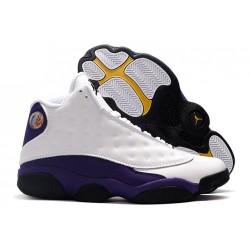 2021 Air Jordan 13 Lakers White Black Court Purple University Gold For Sale 414571 105