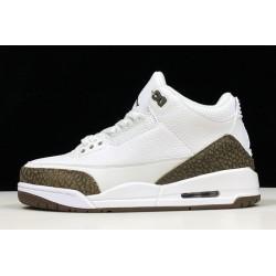 Cheap Air Jordan 3 Retro Mocha White Chrome Dark Mocha Mens 136064 122