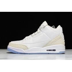 Fashion Air Jordan 3 Retro Pure White Womens 136064 111