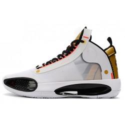 New Air Jordan 34 Gold Black Men AR3381 100