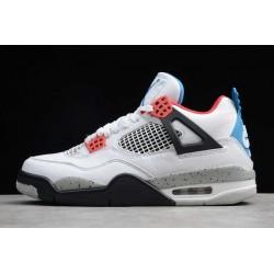 Fashion Air Jordan 4  White Military Blue Fire Red Mens CI1184 146