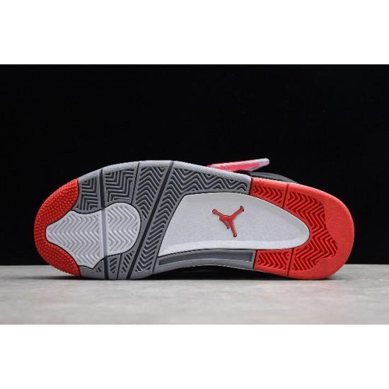 New Air Jordan 4 Retro Bred Black Red Mens 308497 089