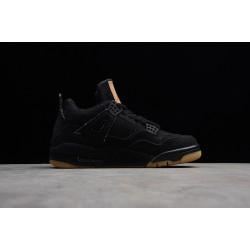 Hot Air Jordan 4 Retro x Levi's Black Denim 2018 Youth AO2571 001