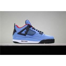 Buy Air Jordan 4 Travis Scott University Blue Varsity Red Black Mens 308497 406