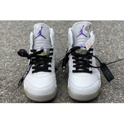 Fashion Air Jordan 5 Grey Green White CT8480 105 Men CT8480 105