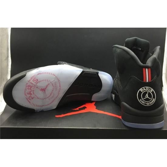 Newest Air Jordan 5 PSG Black White Challenge Red Men AV9175 001