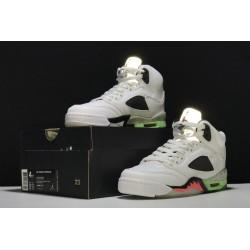 Cheap Air Jordan 5 Retro Poison Green White Infrared 23 Light Poison Green Black Youth 136027 115