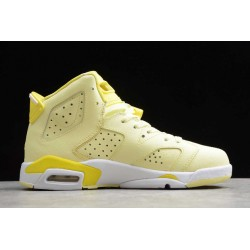 Latest Air Jordan 6 Mid Dynamic Yellow Floral Youth 543390 800