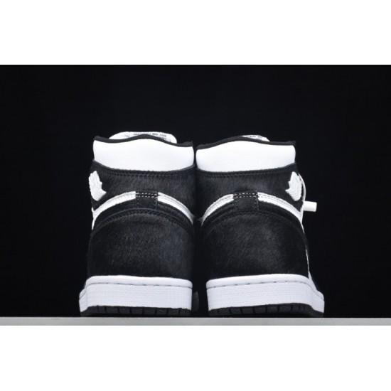 Cheap Jordan 1 Retro High Og Panda Black Metallic Gold White CD0461 007